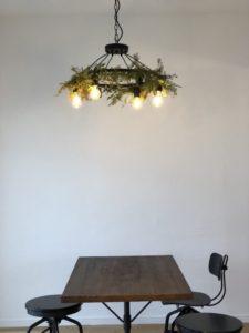 新所沢の埼玉住建 デザインにこだわったリフォーム.リノベーション 空間演出 マンションフルリノベーション ホームステージング ダイニング ヒーリングライトの写真