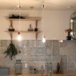 新所沢の埼玉住建 デザインにこだわったリフォーム.リノベーション 空間演出 マンションフルリノベーション ホームステージング キッチン アンティークタイルの写真