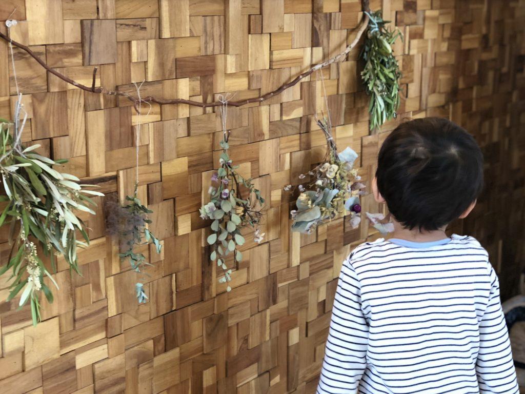 新所沢の埼玉住建 デザインにこだわったリフォーム.リノベーション 空間演出 マンションフルリノベーション ホームステージング キッチン ダイニング ブロックウッド スワッグの写真