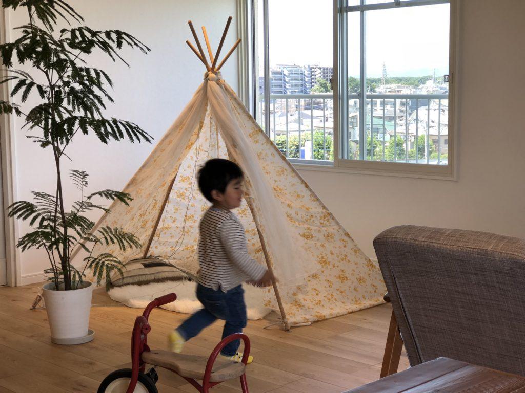 新所沢の埼玉住建 デザインにこだわったリフォーム.リノベーション 空間演出 マンションフルリノベーション ホームステージング ダイニング ティピーの写真