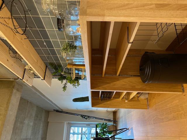 埼玉住建 saitamajyuken 所沢 マンションリノベーション 造作カウンター 収納 可動棚 サブウェイタイルグレー ナチュラル